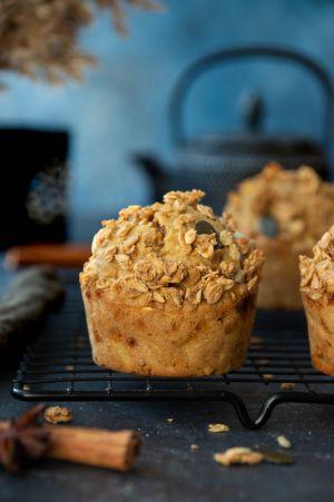 Recette Muffins à la pomme & granola aux épices douces #sanslactose