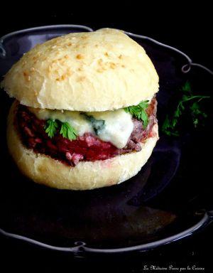 Recette Hamburgers maison au roquefort