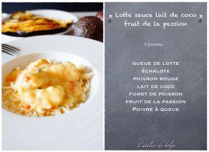 Recette Lotte sauce lait de coco passion