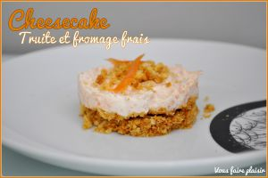 Recette Cheesecake Truite/Fromage frais