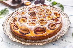 Recette Tarte briochée Légère aux prunes