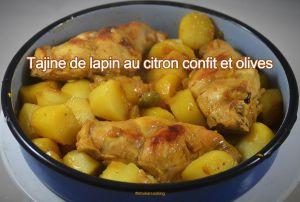 Recette Tajine de cuisses de lapin au citron confit et olives