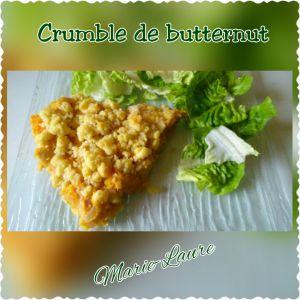 Recette Crumble de Butternut
