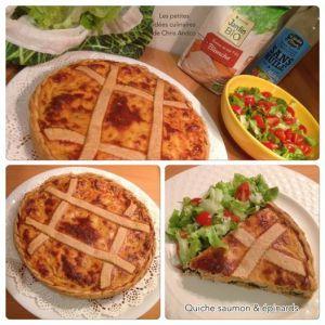 Recette Quiche saumon & épinards frais