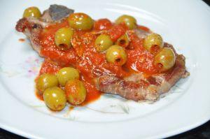 Recette Côtes de porc aux olives