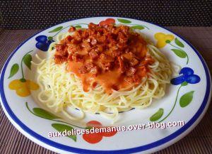 Recette Pâtes sauce chorizo