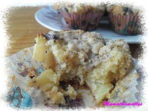 Recette Muffins aux pommes et son crumble aux pépites de chocolat