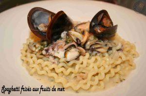 Recette Spaghetti frises aux fruits de mer