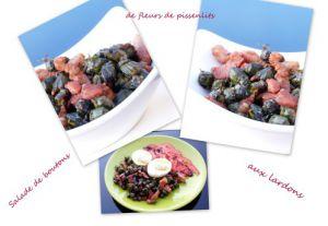 Recette Salade de boutons de fleurs de pissenlits aux lardons