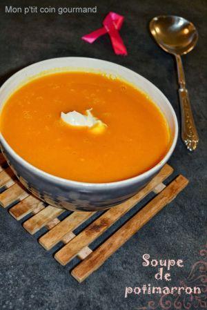 Recette Soupe de potimarron