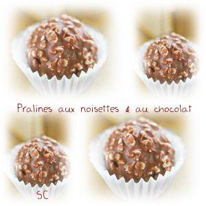 Recette Pralines aux noisettes & au chocolat