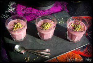 Recette Crèmes soyeuses aux framboises (vegan)