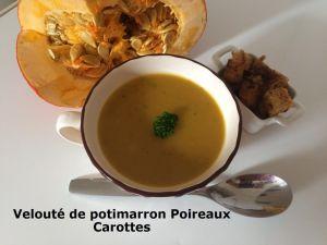 Recette Velouté de potimarron Poireaux Carottes