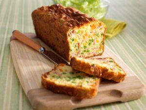 Recette Cake aux jambon petit pois et gruyer