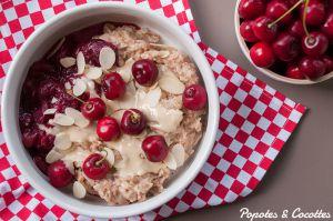 Recette Porridge amandine aux cerises