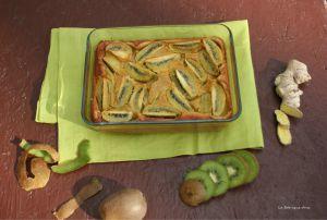 Recette Clafoutis kiwis et gingembre un dessert épicé !!
