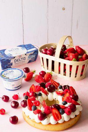 Recette Gâteau couronne de fruits
