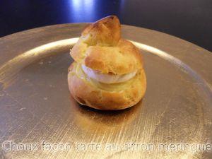 Recette Choux façon tarte au citron meringué