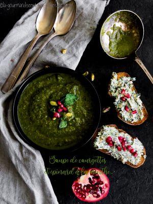 Recette Soupe de courgettes et épinards à la menthe