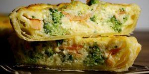 Recette Quiche au saumon et aux brocolis