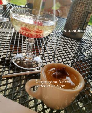 Recette Soupe chou fleur chorizo orange