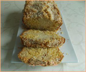 Recette Cake à la noix de coco et confiture de mangue