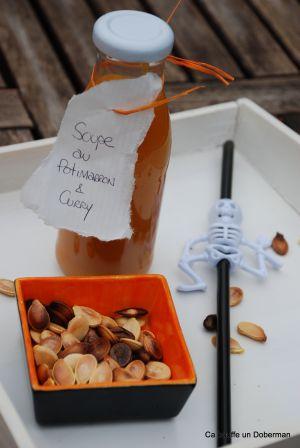 Recette Soupe au Potimarron - Citrouille et Graines Torréfiées à Grignoter