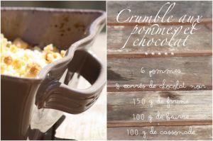 Recette Crumble pomme chocolat