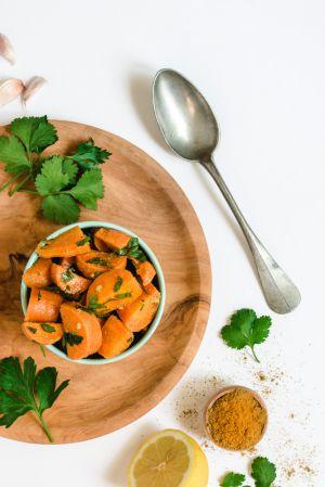 Recette Kémia : salade de carottes cuites (zroudia mchermla)