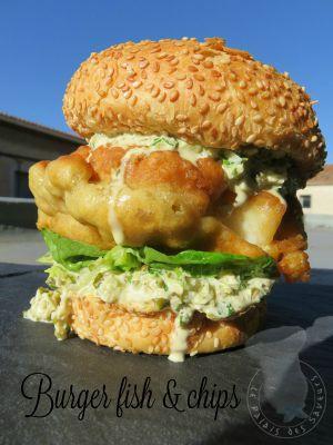 Recette Burger fish & chips, ou presque