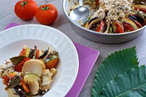 Recette Crumble salé aux légumes (vegan)