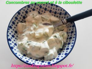 Recette Concombres au yaourt et à la ciboulette