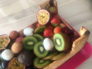 Recette Gateau cagette de fruits