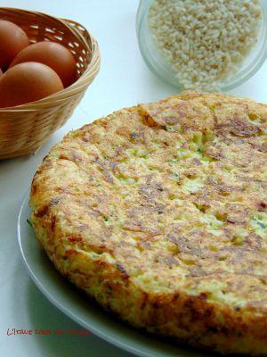 Recette Frittata de riz aux courgettes / Frittata di riso e zucchine