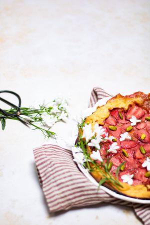 Recette Tarte rustique fraise pistache
