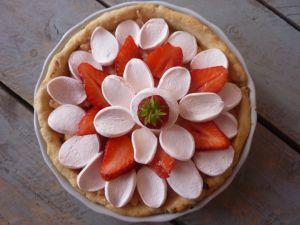 Recette Tarte chamallow-fraises