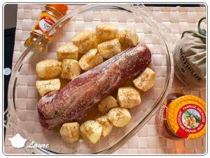 Recette Filet mignon de porc aux pommes