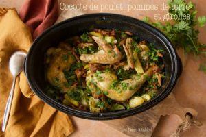 Recette Cocotte de poulet aux girolles et pommes de terre