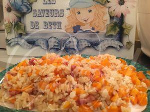 Recette Risotto Carottes Bacon dans le Cookeo / Risotto de Cenouras e Bacon no Cookeo