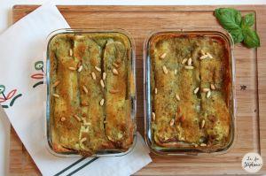 Recette Lasagnes blanches aux courgettes, pesto et pignons de pin