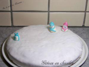 Recette Gâteau au chocolat (et mes 1ers pas en pâte à sucre ...)