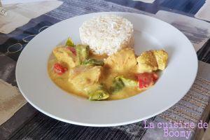 Recette Sauté de dinde au curry et aux poivrons