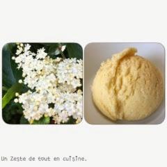 Recette Glace aux fleurs de sureau.(sans sorbetière )