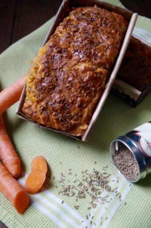 Recette Cake salé carotte, mimolette, cumin