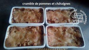 Recette Crumble de pommes et chataignes
