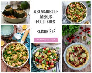 Recette Menu été: planning repas #2