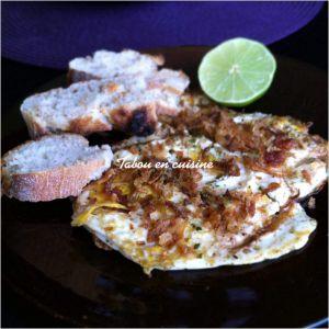 Recette Omelette au curry, citron et oignons frits