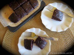 Recette Carrés chocolatés aux haricots noirs