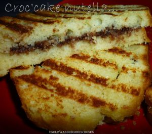 Recette Croc'Cake au nutella