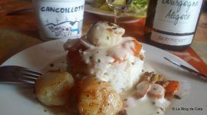 Recette Coquilles St-Jacques sauce cancoillotte